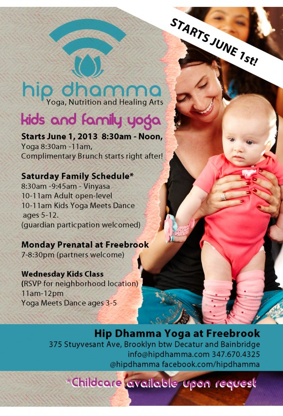 Kids and Family Classes at Hip Dhamma Yoga BedStuy